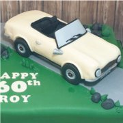 Fondant sugar vehicle classic car custom cake topper