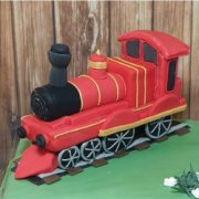 Fondant sugar vehicle train custom cake topper