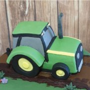 Fondant sugar vehicle tractor custom cake topper