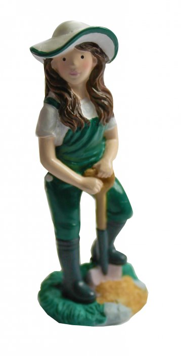 Gardener cake topper female