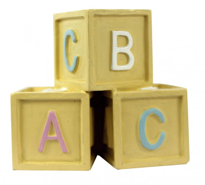 Baby blocks cake topper decoration