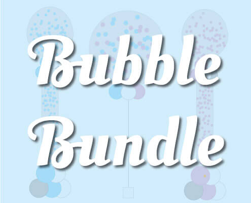 Bubble balloon bundles