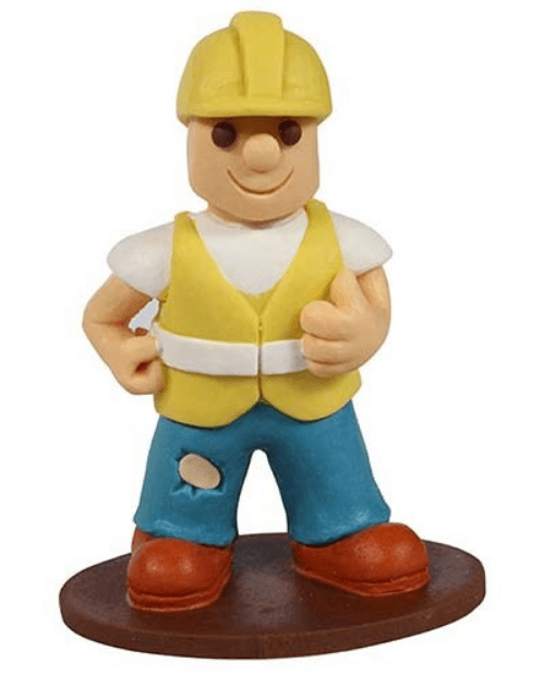 Builder figure cake topper
