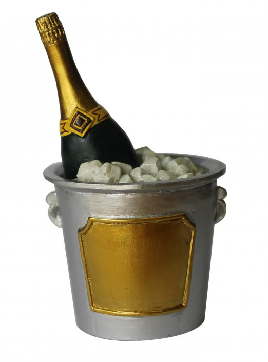 Champagne bottle in bucket cake decoration