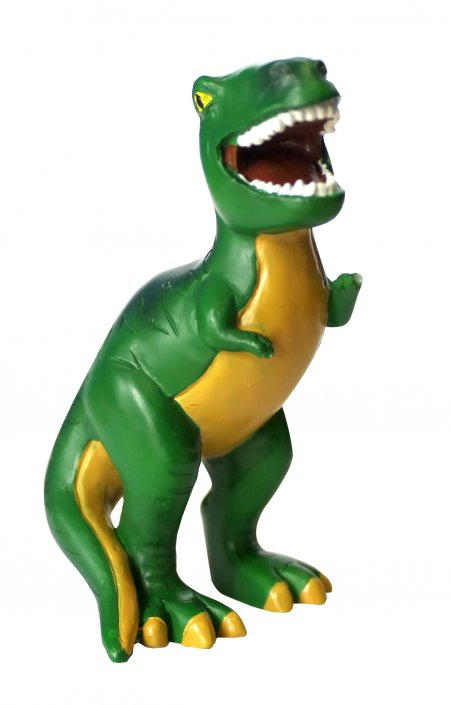 Green dinosaur cake decoration topper