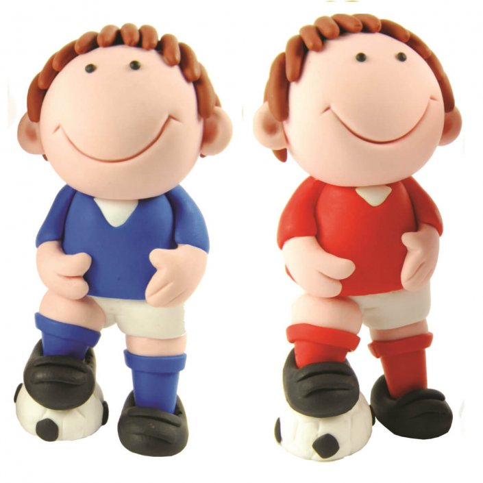 Footballer cake decoration cute football figure cake toppers