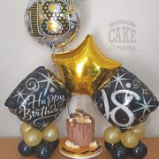 Home party cake and balloon package - lots of colours - delivered - Tamworth