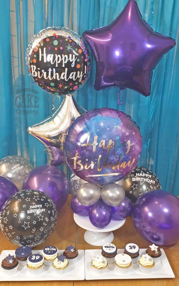Home party cake and balloon package - with delivery - Tamworth