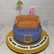 FRIENDS theme cake with sofa - Tamworth