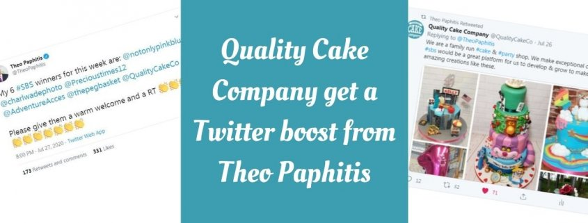 Quality Cake Company get a Twitter Boost from Theo Paphitis