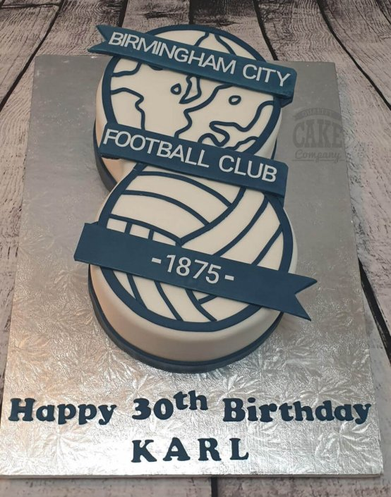 Birmingham City Football club logo cake - Tamworth