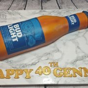 Bud light bottle novelty cake - Tamworth