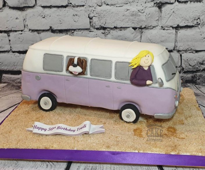 VW Campervan cake lilac colours - Tamworth