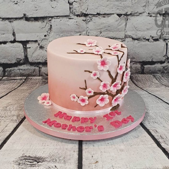 Pink cherry blossom cake - Mother's Day gift - tamworth