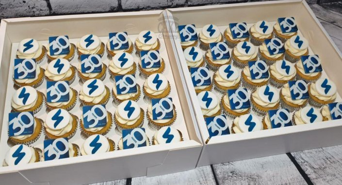Corporate logo cupcakes - Tamworth West Midlands