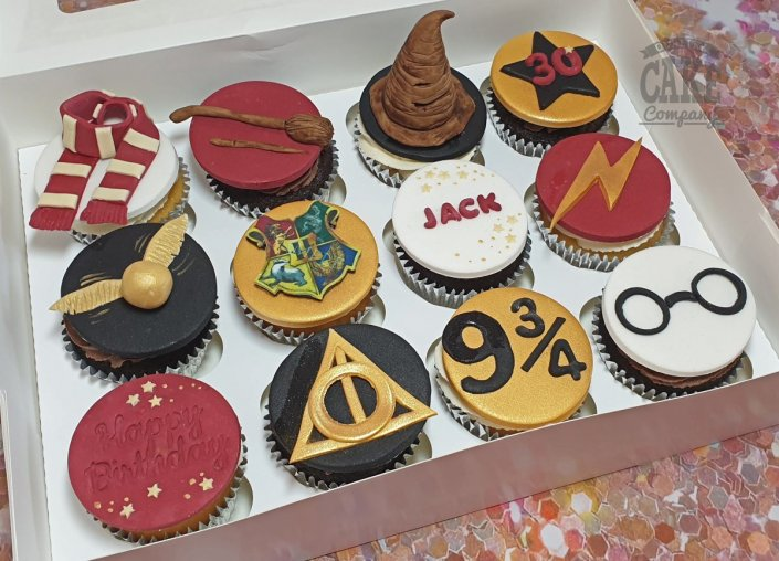 Harry Potter theme cupcakes - Tamworth