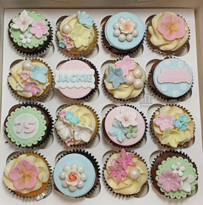Pretty floral pastel cupcakes - Tamworth