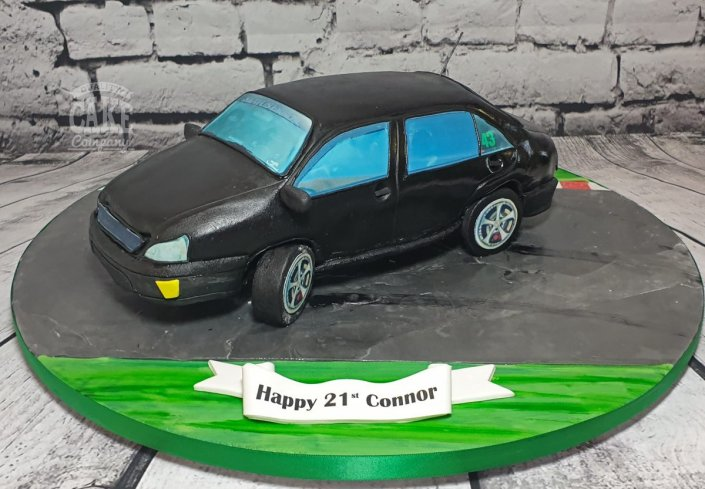 Drifting car theme car novelty cake tamworth