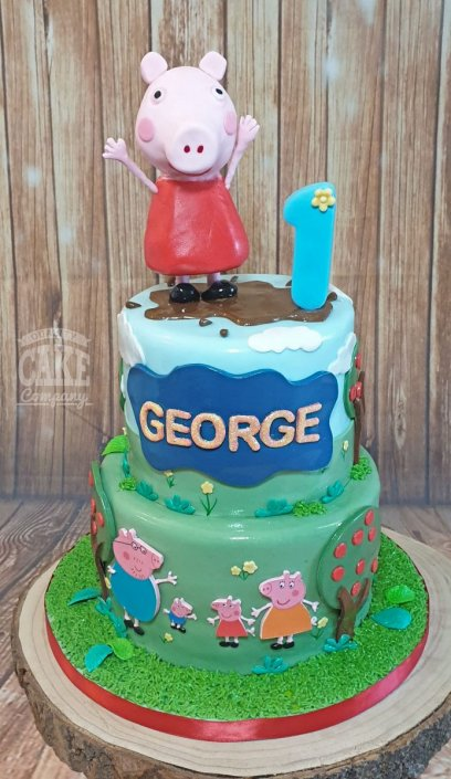 Two-tier Peppa Pig theme George figure - Tamworth