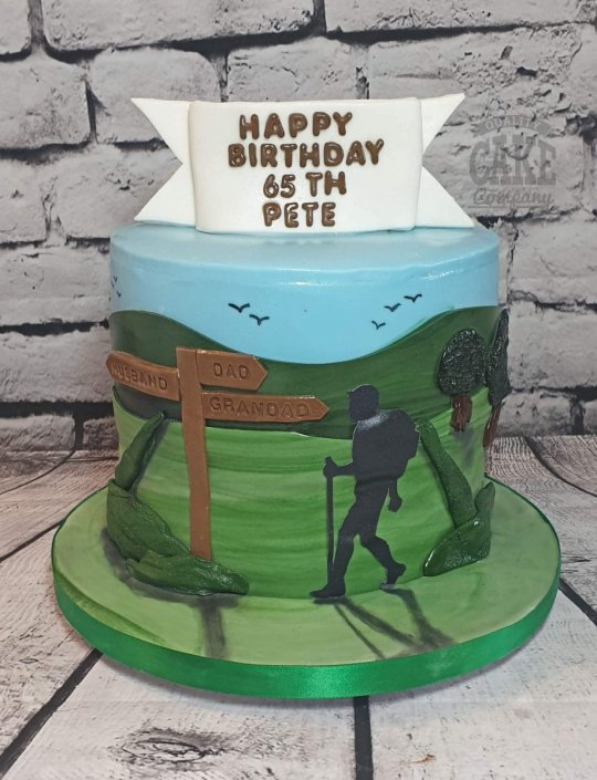 Walking rambling theme cake - Tamworth