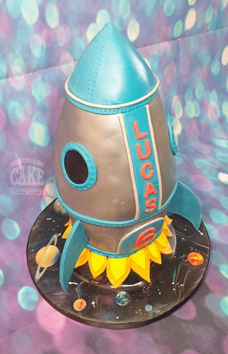 Novelty rocket cake - 3D sculpted - Tamworth
