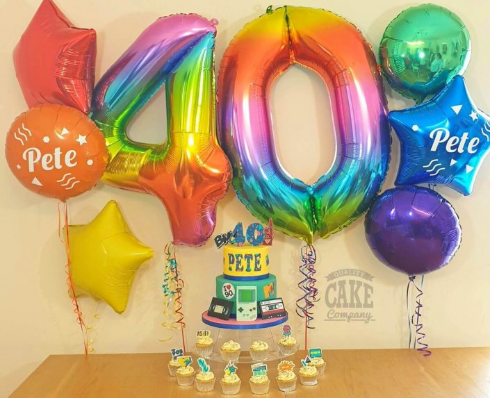Everyday balloon deal - rainbow colours, 90s theme for a 40th birthday Tamworth