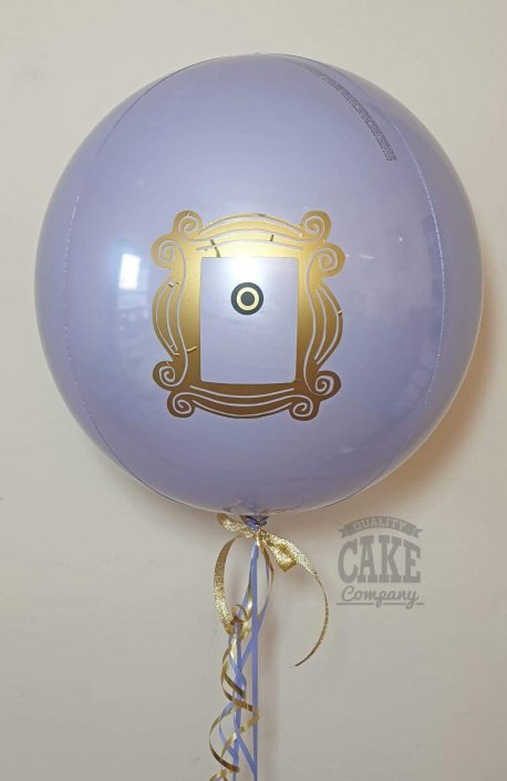 Personalised FRIENDS theme orb balloon purple
