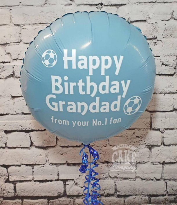Personalised foil balloon - football theme - Tamworth