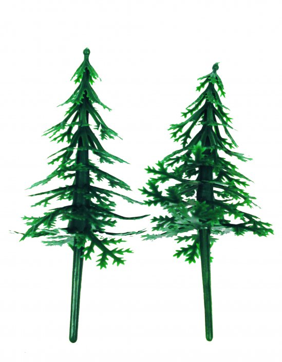 Christmas Cake decorations-FIR-TREES
