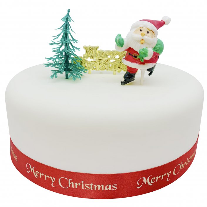 Christmas Cake Decorations Traditional