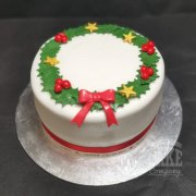 Christmas Cake Holly Wreath design - Tamworth