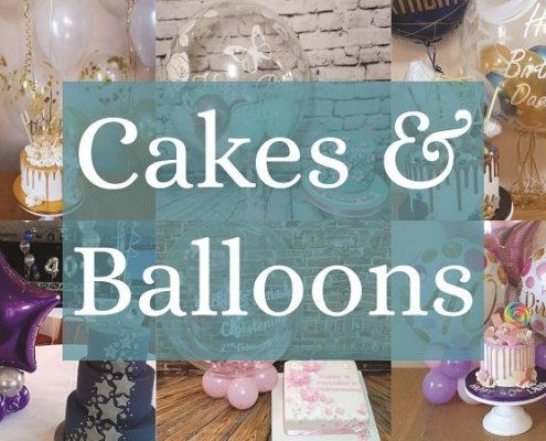Cakes and matching balloons Tamworth