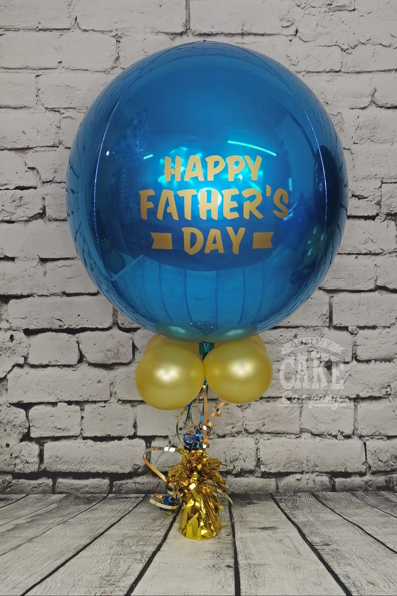 Father's Day Orb Balloon blue and gold